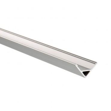 Perfil 1 metro de Aluminio Ángulo 45º para Tiras LED 12V DC