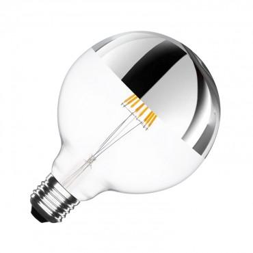 Bombilla LED E27 Dimable Filamento GLOBO 6W Reflect