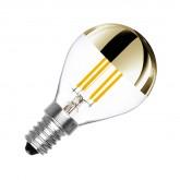 Bombilla LED E14 Ping Pong Dimable Filamento Ahumado 3.5W reflect