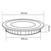 Placa LED Circular SuperSlim 18W