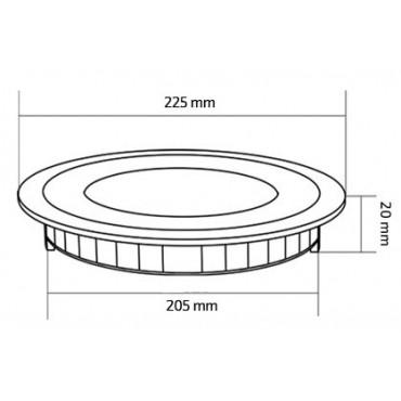 Placa LED Circular SuperSlim 18W