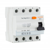 Interruptor Diferencial Industrial 4 Polos 300mA-Clase AC 6kA