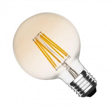 Bombilla LED E27 Oro Dimable Filamento Medium Globo 6W